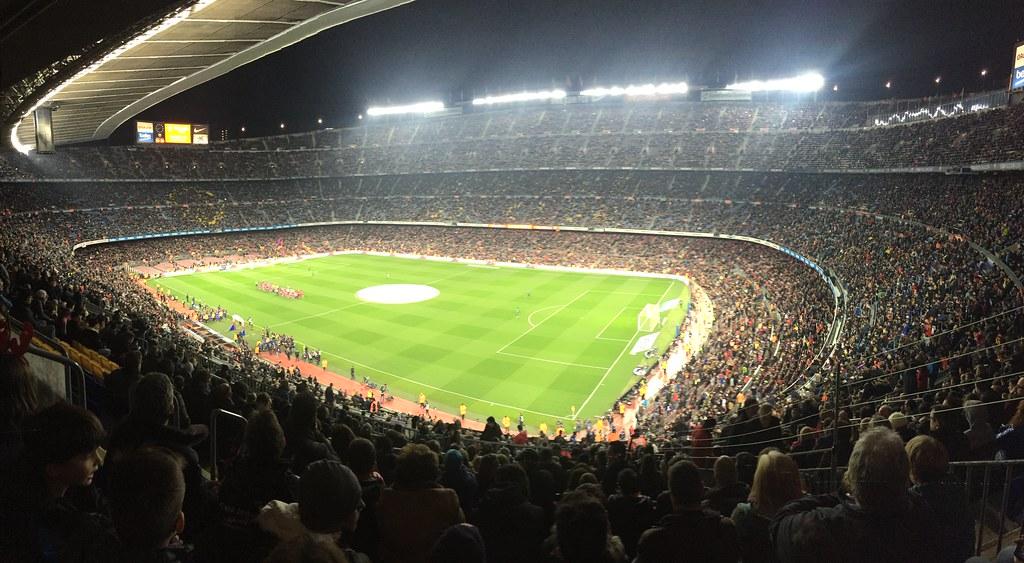 crowd packed football stadium